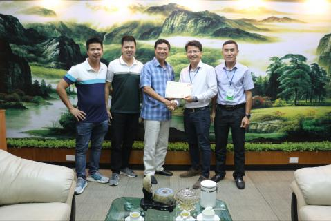 Sign the agreement in Nam Dinh, Vietnam