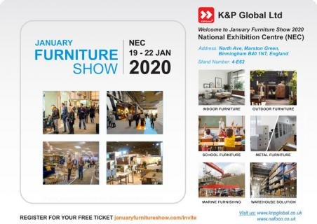 [News] - Attending January Furniture Show 2020 NEC - Birmingham - UK from 19 to 22 Jan 2020
